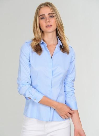 People By Fabrika Uzun Kollu Gömlek Mavi